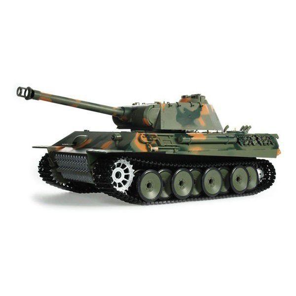 RC tank 1/16 German Panther, bez kouř. a zvuk efektů, maskáčový HENG LONG