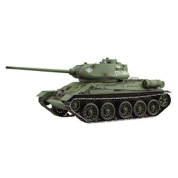 RC tank 1/16 T-34/85 kouř a zvuk. efekty 2,4GHz Tank s kouřem T34 HENG LONG