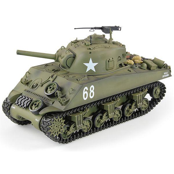 RC tank 1/16 US M4A3 SHERMAN kouř. a zvuk. efekty