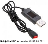 Nabíječka USB pro baterie ke dronům X5HC, X5HW