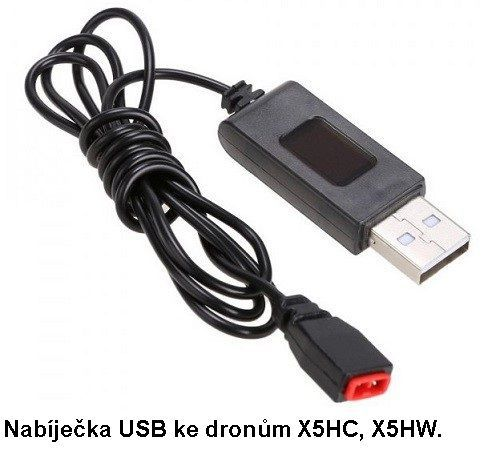 Nabíječka USB pro baterie ke dronům X5HC, X5HW Syma