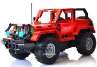 RC Stavebnice dvou terénních aut s nabíjecí baterií, červená