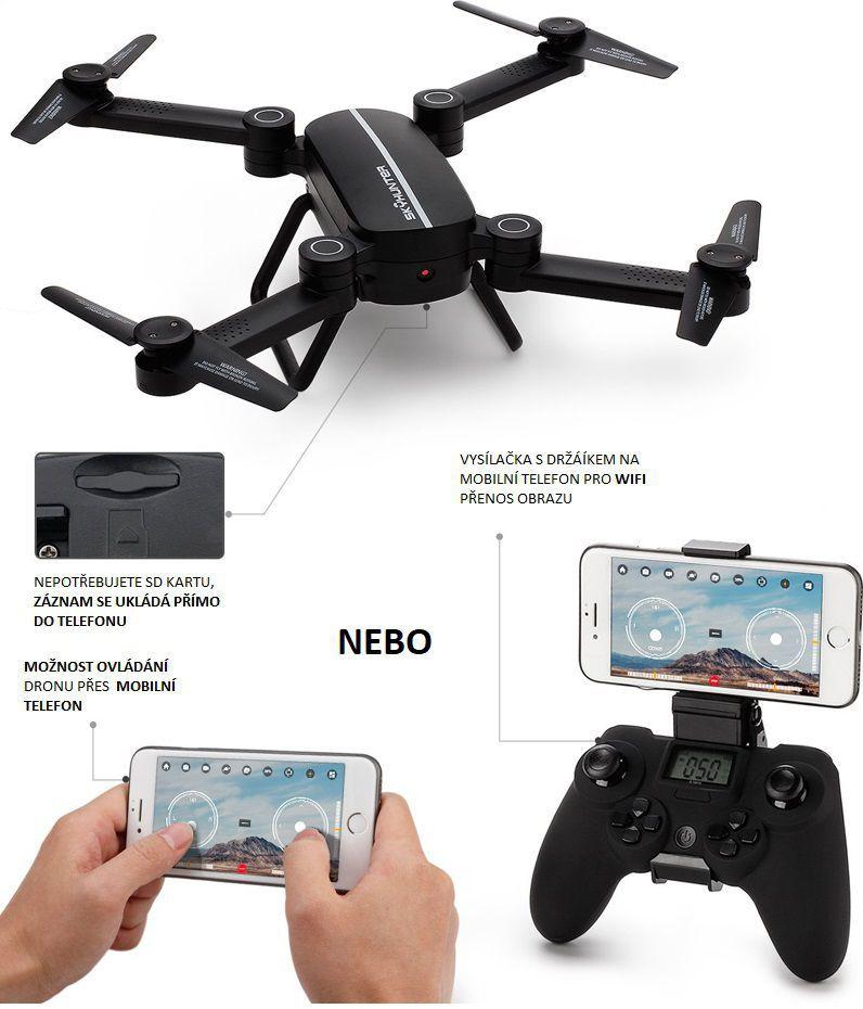 SKLÁDACÍ DRON S WIFI KAMEROU. kliknutím zvětšíte. dron-predator 459f1efba2