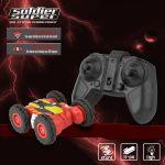 RC Stunt Soldier Super 2.4GHz Dětské auto pro oboustrannou jízdu s 360° efekty