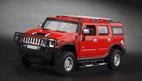 MZ Hummer H2 RC model auta 1:24 přesný model s oslnívými světly a otevíracími dveřmi červený