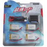 Nabíječka USB + 4ks baterie LiPol 700mAh 3.7V