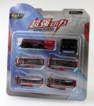 Sada baterií 4ks Li-Pol 600mAh 3.7V 4ks + USB nabíječka a redukce