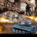HENG LONG Soubojové tanky velké s nefunkčním indikátorem střelby a 2,4 GHz ovládáním (bazar)