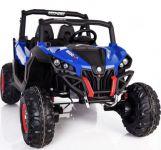 BIG BOY Brutální čtyřmotorové ATV délka 130cm dvousedačkové s měkčenými koly modré