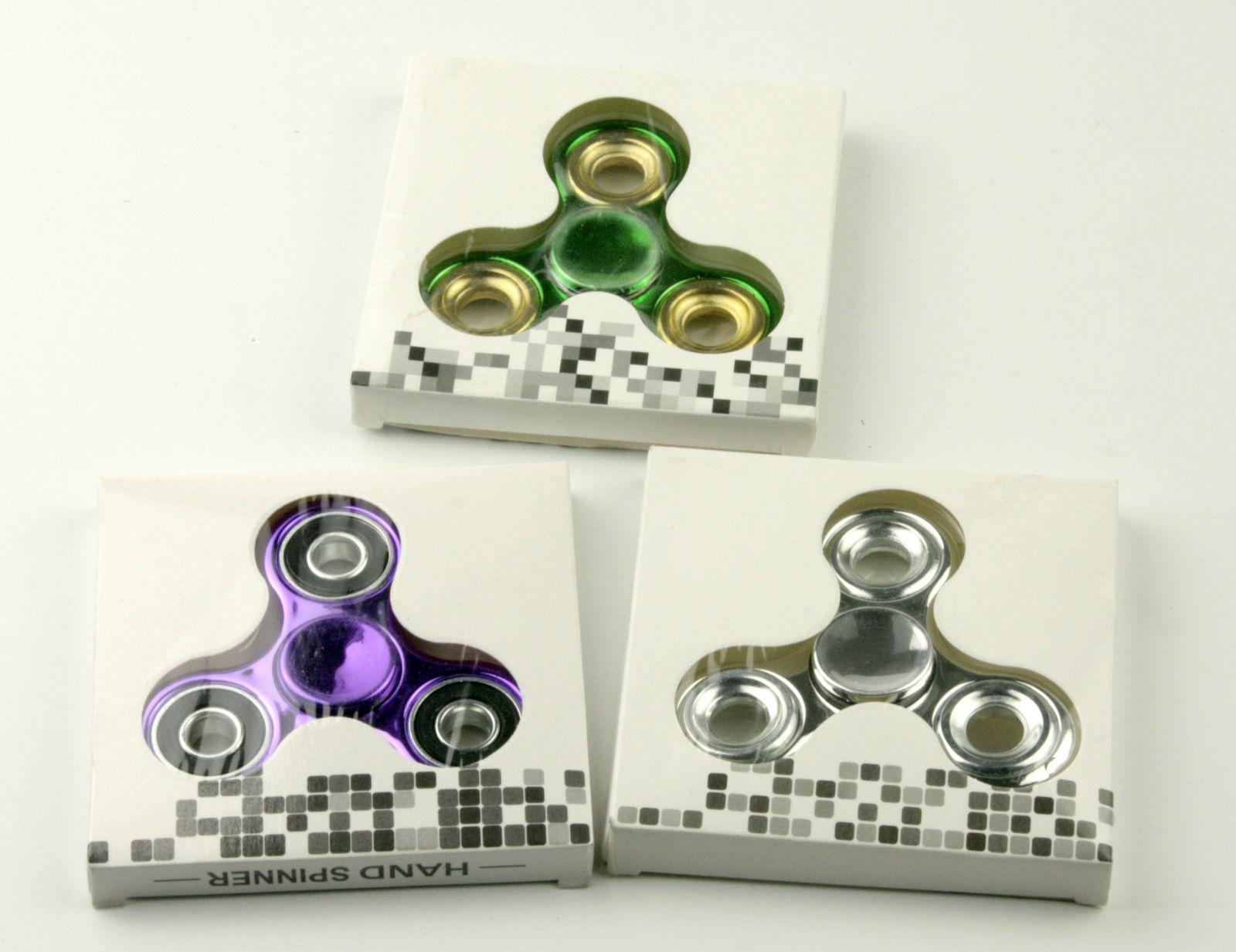 Trio spinnerů - chromovaných