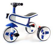 Multifunkční dětské tříkolové odrážedlo 2 v 1 s funkčním světlem, zvukem a odpružením modré