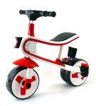 Multifunkční dětské tříkolové odrážedlo 2 v 1 s funkčním světlem, zvukem a odpružením červené