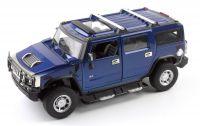 MZ Hummer H2 1:24 model autíčka, modrý