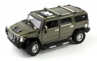 MZ Hummer H2 1:24 model autíčka, zelený