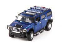 MZ Hummer H2 25020A RC model auta 1:24 přesný model s oslnívými světly a otevíracími dveřmi modrý