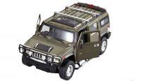 MZ Hummer H2 25020A RC model auta 1:24 přesný model s oslnívými světly a otevíracími dveřmi zelený