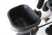 Nejbezpečnější luxusní dětské tříkolové šlapadlo/tahač 2 v 1 se zadním košíkem bílé