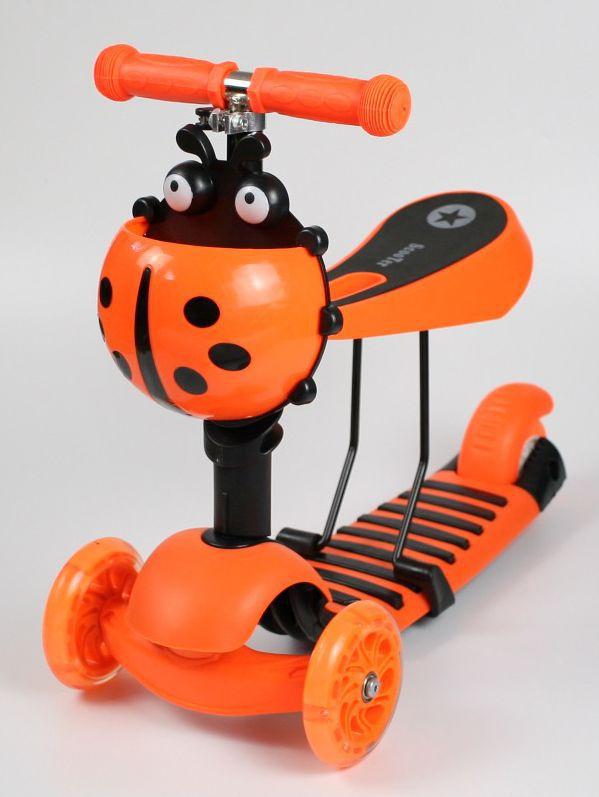 Luxusní dětské odrážedlo/koloběžka 2 v 1 s košíkem na všechny důležité drobnosti oranžové RCskladem