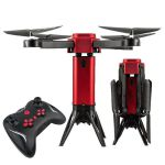 Skládací dron Tower s HD FPV kamerou a senzory proti nárazu MASTER PRO 2ks baterie navíc! červený