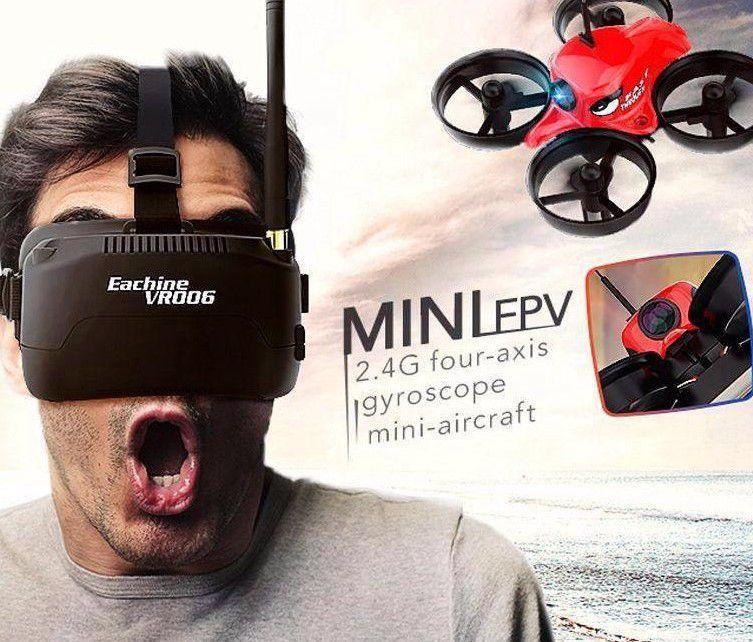 DM104s super 3D závodní mini dron s 5,8 GHz LCD video brýlemi
