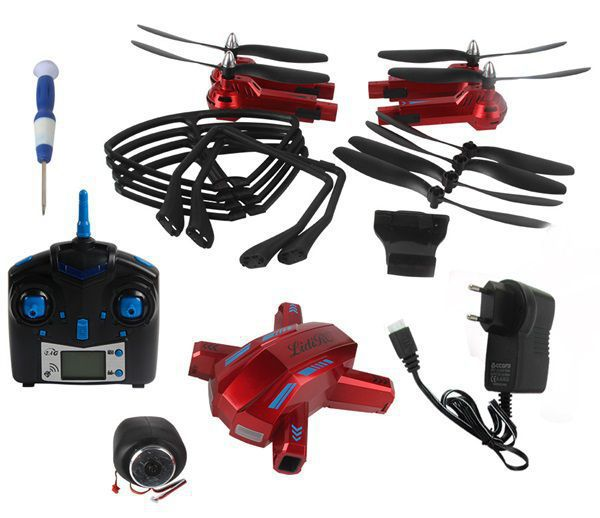 Dron L5 s HD kamerou- barometrem-tlačítkem návrat-EVOLUTION PRO prodloužená  doba letu se sadou 4 baterií až 70 minut! červený RCskladem e8490aa9c1