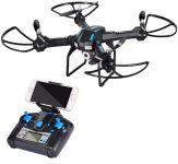 XXL DRON L5 s HD WIFI kamerou- barometrem-15 minut letu, černý