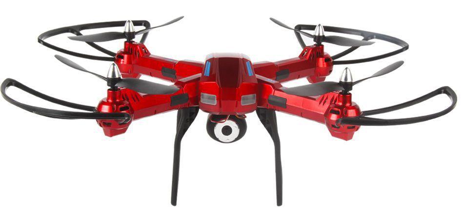 Dron L5 s HD WIFI kamerou- barometrem-tlačítkem návrat-EVOLUTION PRO  prodloužená doba letu se sadou 4 baterií až 70 minut! červený RCskladem 68e5787196