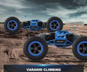 Hyper actives stunt TRANSFORMUJÍCÍ off-road auto! modré