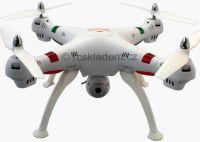 Koome K800 EVOLUTION PRO 52cm nejhezčí dron na trhu s HD kamerou bez barometru, 4 baterie navíc! bíl