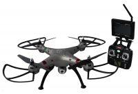 Koome K800B FPV 52cm nejhezčí dron na trhu s HD kamerou, barometrem a online přenosem, stříbrná