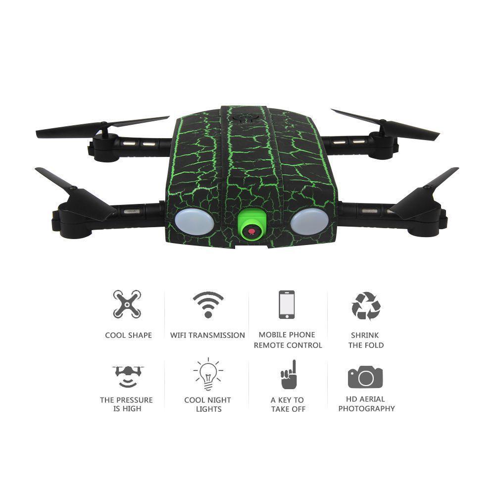 SKLÁDACÍ DRON DO KAPSY MONSTER 19cm MASTER PRO prodloužená doba letu s dvěma bateriemi navíc až 20 minut! zelený RCskladem