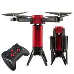 Skládací dron Tower s HD FPV kamerou a senzory proti nárazu EVOLUTION PRO 4ks baterie navíc! červený