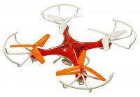 Dron Voyager 29cm s třílistými vrtulemi, kamerou EVOLUTION PRO 4 baterie navíc! červený