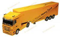 Kamion originál Mercedes 1:32, 50cm, návěs zvukové a světelné efekty, žlutý