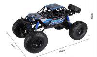 Mohutná terénní RC Rock Buggy Gladiátor 48cm 4x4 2.4GHz, modrá