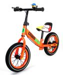 Nejhezčí dětské sestavené kovové odrážedlo Champion s drátěnými koly, oranžové
