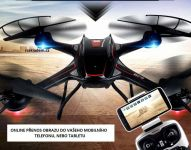Dron S3W 58cm s wifi kamerou a dobou letu až 12minut, černý