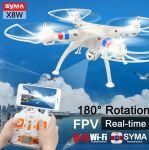 SYMA X8CW wifi verze pro přenos online obrazu EVOLUTION PRO Sada 4 baterií + nabíječka IMAX B3! bílá