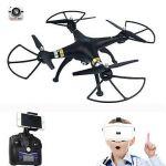T70VR nejnovější dron s živým přenosem obrazu 3D VR brýlí! černý