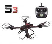 XXL Dron S3 58cm s HD kam. záznam na SD kartu 12 minut letu, černý