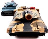 HENG LONG Bezporuchové RC bojující tanky sada 2ks 30cm Abrams + Tiger