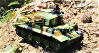 GWT Mini tank TIGER 1/72, Military mimikry grass