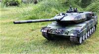 HENG LONG RC Tank 1/16 German Leopard 2 A6 kouř a zvuk. efekty v plné kovové tuningové verzi!