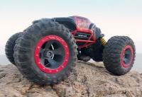 Hyper actives stunt TRANSFORMUJÍCÍ off-road auto, červená