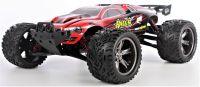 RACING TRUCK Top 38+km/hod IPX4 voděodolný 2,4GHz Offroad plný kovových dílů, červená
