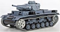 RC Tank German Panzer III type L, 1:16, BBS, zvuk. a kouř. efekty, ocelové doplňky, pouštní žlutá
