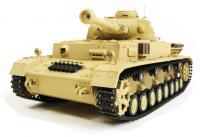 RC TANK German Panzer IV (F Type), 1:16, kouř. a zvuk. efekty, BBS, pouštní žlutá