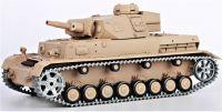 RC TANK German Panzer IV (F Type) 1:16 zvuk. efekty, BBS, ocelové doplňky, pouštní žlutá