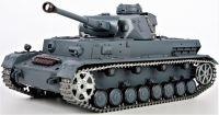 RC TANK German Panzerkampfwagen IV Ausf (F2 Ty 1:16 zvuk. a kouř. efekty, BBS, ocelové doplňky, šedá