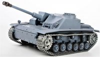 RC TANK German Sturmgeschütz III 1:16 BBS, kouř. a zvuk. efekty, ocelové doplňky a pásy, šedá